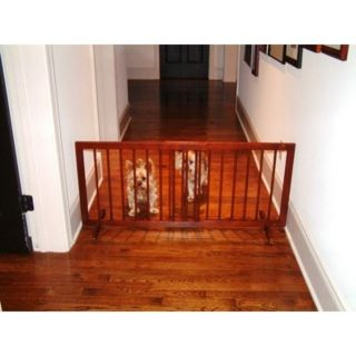 Cardinal Walnut Wood Freestanding Stepover Pet Dog Gate