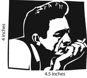 Johnny Cash Sticker Cut Vinyl Decal