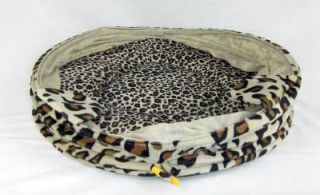 Folding Round Pet House Igloo Cave Bed for Dog Cat Kitten Puppy Kitty Brown New
