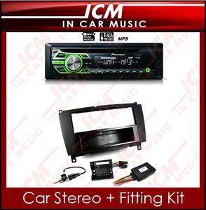 Car CD Front Aux in  Player iPod Stereo Mercedes CLK Car Radio Kit Stalk