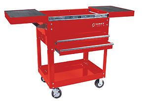 Sunex 8035 Slide Top Utility Cart Tool Box Red