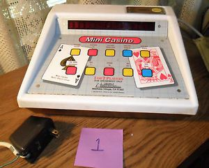 Very RARE Electric Mini Casino Bar Table Top Multiple Games Poker Coin Operated