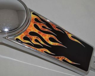 "Custom ""Fire Flame"" Dash Insert Decal for 1989 2007 Harley Electra Road Glide"