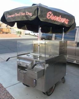 Great Price Carts Food Equip New York Style Hot Dog Cart Good Condition