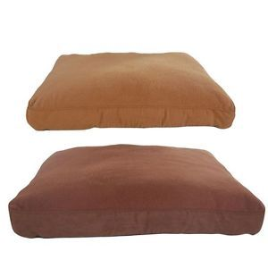 Furhaven Pet Products Snuggle Terry Suede Deluxe Pillow Dog Bed
