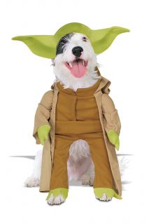Star Wars Yoda Jedi Pet Dog Doggy Halloween Costume Large Medium