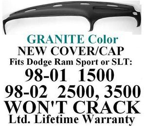 Dodge RAM Sport SLT Pickup Granite Dash Cover Cap Panel Dashboard Board Top Pad