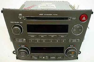 Subaru Legacy 2006 Original Car Audio Factory 6 Disc Radio with Auto Climate