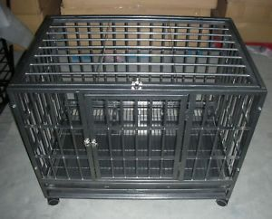 "Extra Large 48"" Heavy Duty Dog Pet Cat Crate Kennel HB"