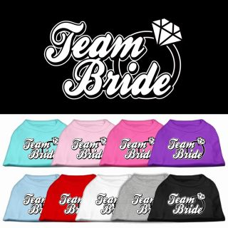 Dog Pet Puppy Team Bride Screen Tee Shirt Clothes Apparel Pajamas 9 Colors