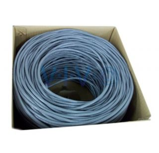 New 500 ft Bulk Cat6 Ethernet Cable Wire UTP Pull Box 500ft Cat 6 Grey