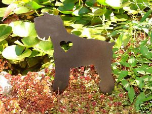 Miniature Schnauzer Pet Dog Memorial Garden Yard Lawn
