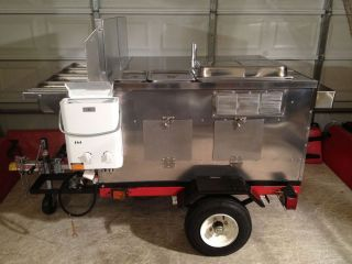 Dot Hot Dog Mobile Food Cart Catering Trailer Kiosk Stand