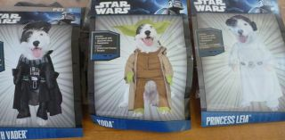 New Dog Pet Halloween Star Wars Costume Yoda or Darth Vader Size s M L XL