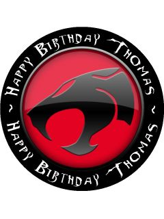 "Personalised Thundercats Edible Icing Cake Topper 7 5"" Circle"