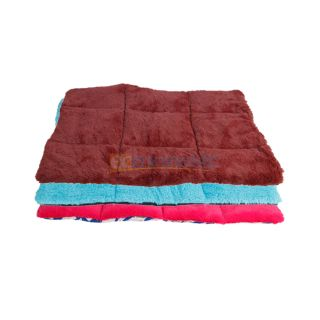 New Super Soft Velour Dog Bed Warm Mat Blanket Crate Pad Cover 3 Colors 3 Size