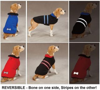 Dog Pet Puppy Reflective Thermal Reversible Fleece Winter Jacket Coat Blanket