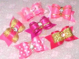 Val's Dog Bows x SM Hot Pink Show Buy 1 or All 6