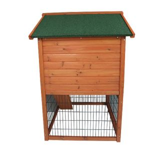 New Deluxe Wooden Rabbit House Wood Animal Hutch Little Pet Safety Cage