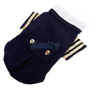 Pet Dog Puppy Sailor Costume Navy Suit Uniform Coat Clothes Apparel s M L XL New