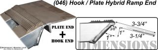 Heavy Duty Aluminum Car Auto Trailer Ramps Hook Plate