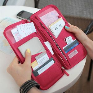 Travel US Handy Organizer Bag Money Passport Card Document Holder Cover Wallet