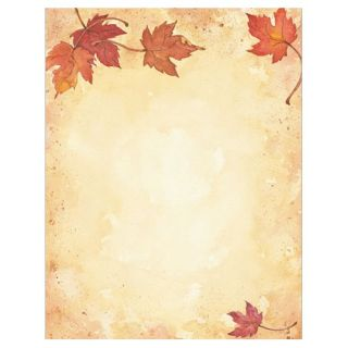 Fall Leaves Border Thanksgiving Fall Autumn Stationery Computer Printer Paper
