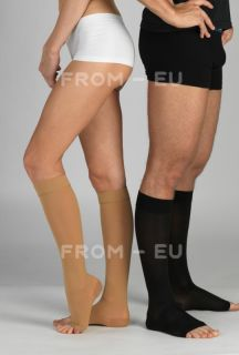 18 21MMHG Knee High Compression Men Women Dress Socks Support Stockings Open Toe