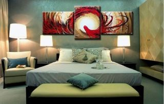 Hot Sale 3pc Modern Abstract Huge Wall Art Oil Painting on Canvas No Frame Z1