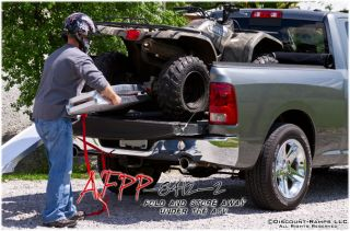 7' Arched Folding ATV Ramps Solid Surface Lawn Tractor Garden Mower Afpp 8412 2