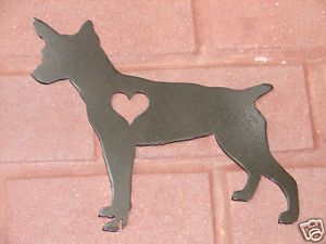 Rat Terrier Pet Dog Memorial Garden Stake Lawn Ornament