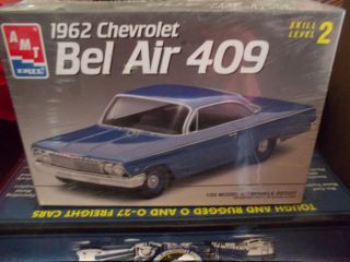 AMT 1962 Chevrolet Bel Air 409 1 25 Scale Still in Cellophane Wrap