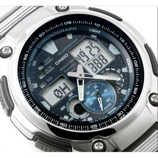 Casio Men's AQ190WD 1A Combination World Time Alarm Multi Task Gear Sports Watch