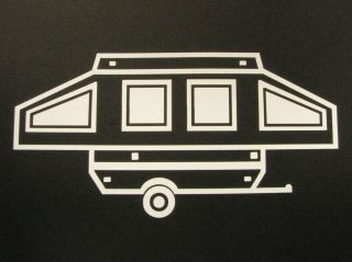 Pop Up camper Trailer Car Window Vinyl Decal