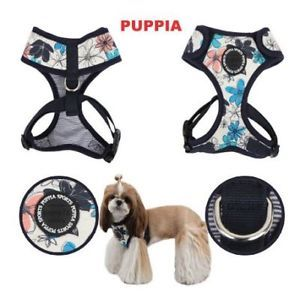 Puppia Dog Harness Adjustable Neck Soft Spice Navy s L