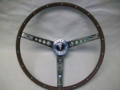 1965 1966 Mustang Deluxe Pony Wood Steering Wheel Kit Repro on Sale