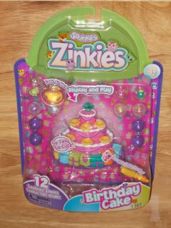 2012 Blip Squinkies Zinkies 12 Pack Birthday Cake Set Bubble Pack SEALED