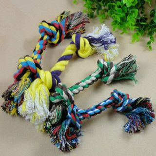 PP Hot Sale Fashion Dog Puppy Pet Cotton Braided Bone Rope Chew Knot Toy HG 0056