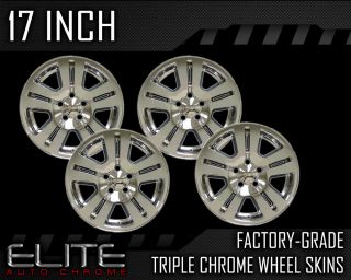 "2007 2011 Ford Edge 17"" Chrome Wheel Skin Covers"