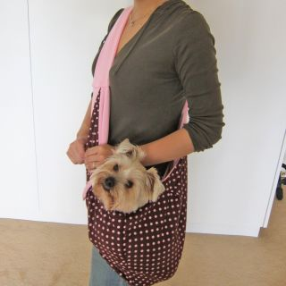 Designer Dog Puppy Pink Reversible Pet Purse Sling Shoulder Bag Carrier Tote New