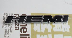 Auto Car Metal Black Hemi for Challenger Charger Emblem Decal Badge Sticker