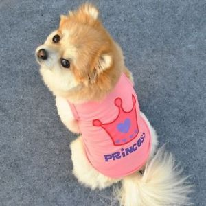 Small Pet Dog Clothes T Shirt Shirts Vest Type Size L A41