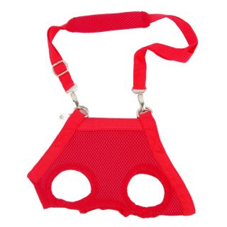 Red Dog Pet Puppy Harness Free Leash Sling Tote Carrier Carrying Case Bag Pouch