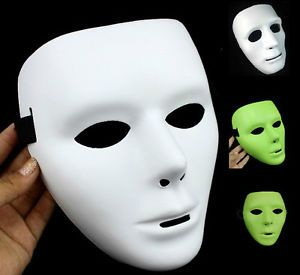 2013 Hot Sale White Black Fluorescent Color Jabbawockeez Mask with White Gloves