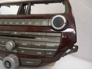 2008 09 10 2010 Honda Accord Factory Radio  MP 3 CD Player 4BA0