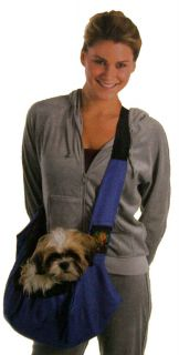 Dog Sling for Carrying Small Dogs Pets for Days Out Old Young Dogs Blue