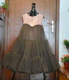 Runway Tulle Tutu Gown Prom Dress Wedding Grey Red