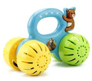 Random Color Jingle Bell Bear Car Education Toy for Baby Kids Child