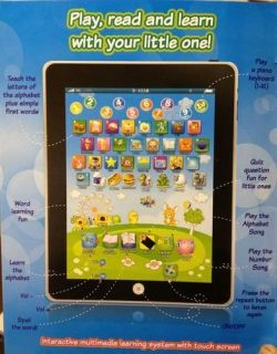 My First Tablet Computer iPad Children Child Kids Educational Play Read Game Toy