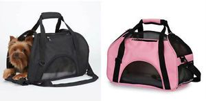 On The Go Pet Bag Small Dog Cat Carrier Vented Tote Upto 10 lbs Pink or Black
